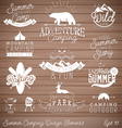 Camping Design Elements Badges and Labels vector image