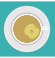 cup of tea with apple vector image