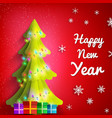 happy new year festive poster vector image