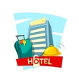 Hotel concept design vector image