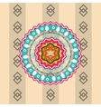 mandala over vintage background vector image