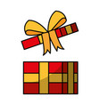 open giftbox present isolated icon vector image