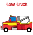 Red tow truck vector image