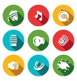 Set of Muay Thai Icons Fighter Music vector image