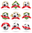 Soccer labels set vector image
