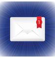 white envelope vector image