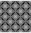 White openwork lace seamless pattern on black vector image