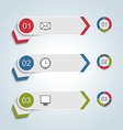 Set paper labels with infographic icons vector image