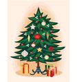 Traditional Christmas tree Cartoon vector image