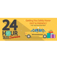 24 Hour Taxi Service 1500x600 Pixel Banner vector image