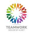 teamwork people human colorful logo design vector image