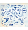 grunge weather icons vector image