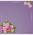 Postcard with bouquet of the plumeria vector image