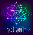 abstract background with sacred geometry vector image