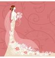 Bride on pink background vector image