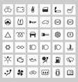 car dashboard icons set vector image