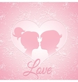 Delicate pink love card vector image