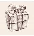 Gift Box Hand Drawn vector image