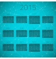 Gloss Connection Calendar 2015 background vector image