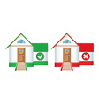 House icons accepted and rejected vector image