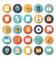 icons flat colors business finance vector image