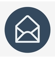 Mail icon open envelope Flat design vector image