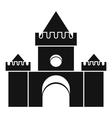 Fairytale castle icon simple style vector image