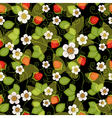 Seamless spring dark floral pattern vector image vector image