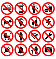Set of Prohibited No Stop Sign vector image vector image