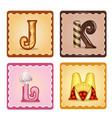 letters jrlm candies vector image