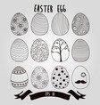 easter eggs with ribbon background vector image