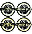 Spring rubber stamps vector image vector image
