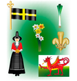 A Collection of Welsh vector image vector image