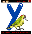 letter y for yaffle cartoon vector image vector image
