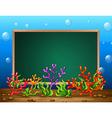 Underwater banner vector image vector image