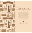 Landmarks of United States of America background vector image
