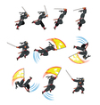 Ninja Flying Attack Game Sprite vector image