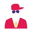 rap singer in pink vector image