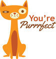 Youre Purrfect vector image