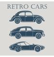 car retro 50s 60s 70s poster vector image