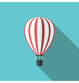 Beautiful hot air balloon vector image