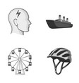 bicycle business medicine and other monochrome vector image