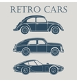 car retro 50s 60s 70s poster vector image