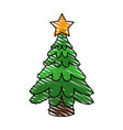 christmas tree icon image vector image