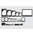 Electronic appliances vector image