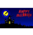 Halloween Banner Halloween pumpkins and dark vector image