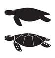 sea turtle outline icon or logo vector image