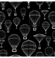 Hot air balloon seamless pattern vector image