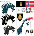 Map of Finnmark vector image