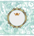 Royal background with golden ornate frame and vector image